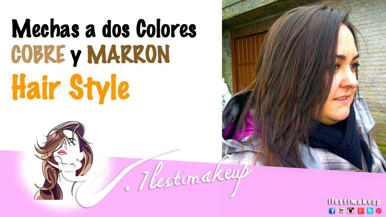 Mechas de dos colores cobre y marron hairstyle youtube - Sofas de dos colores ...