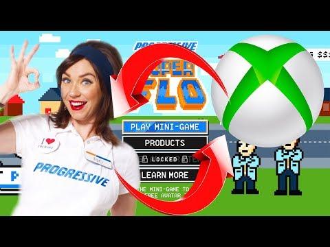 XBOX COLLABS WITH PROGRESSIVE (Xbox News)   Progressive Super Flo   Progressive Game