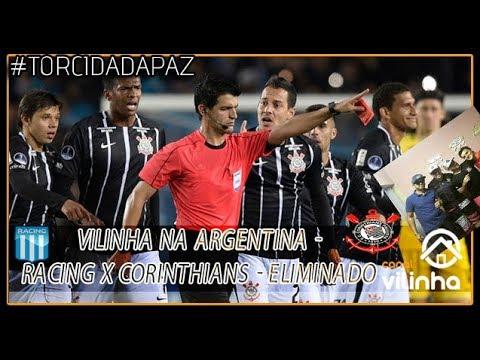 Vilinha na Argentina  - Racing x Corinthians - Sulamericana