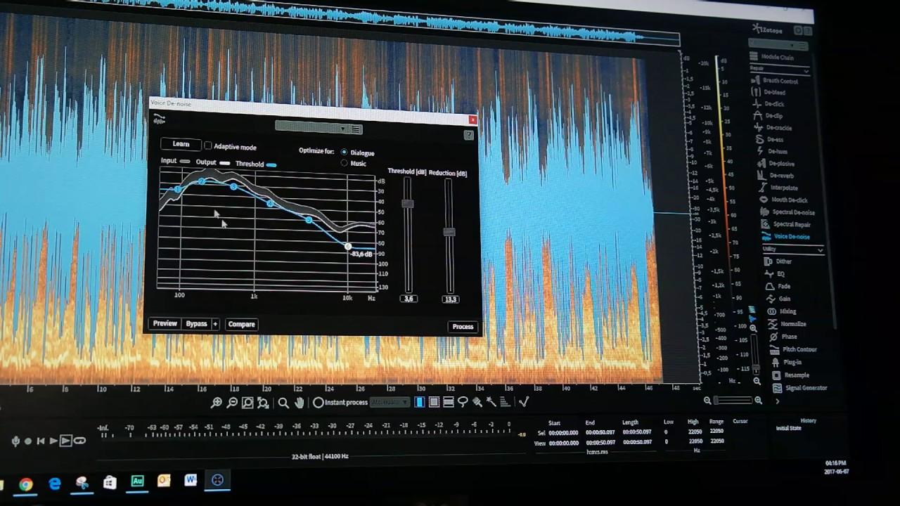 Izotope RX6 Voice De-Noise