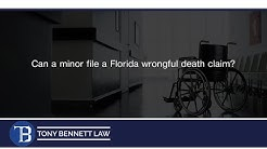 Can a minor file a Florida wrongful death claim?