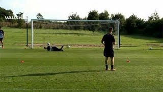 Cracking volleys & saves: England U17s from Man United, Chelsea and more shooting practice