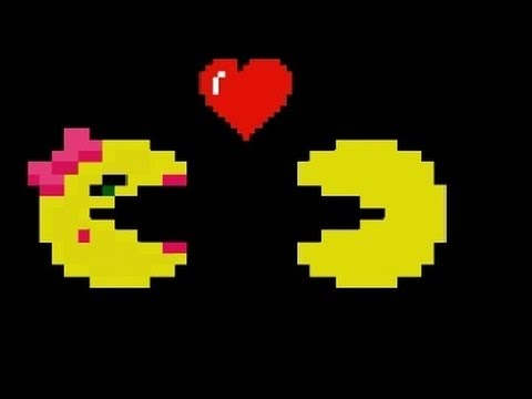 Image result for Pacman and ms pac man kissing