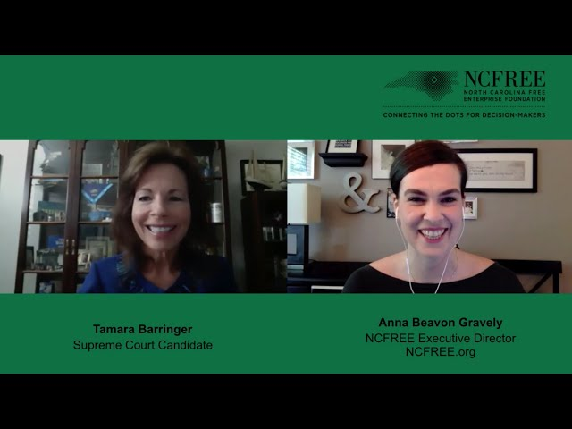 NCFREE Judicial Interview - Tamara Barringer - Supreme Court Seat 4