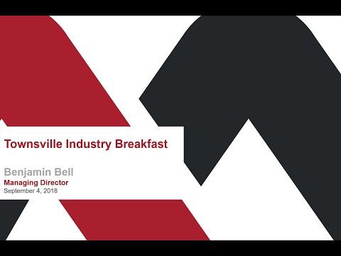 Townsville Industry Breakfast: September 2018