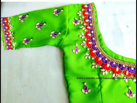 Most Heavy U0026 Grand Designer Blouse Making Wit Normal Stitching Needle On Stitched /Ready Made Blouse