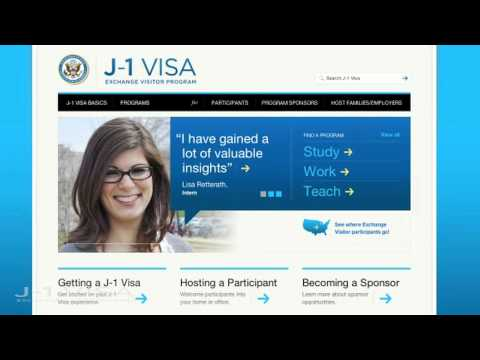 Welcome To The New J-1 Visa Site