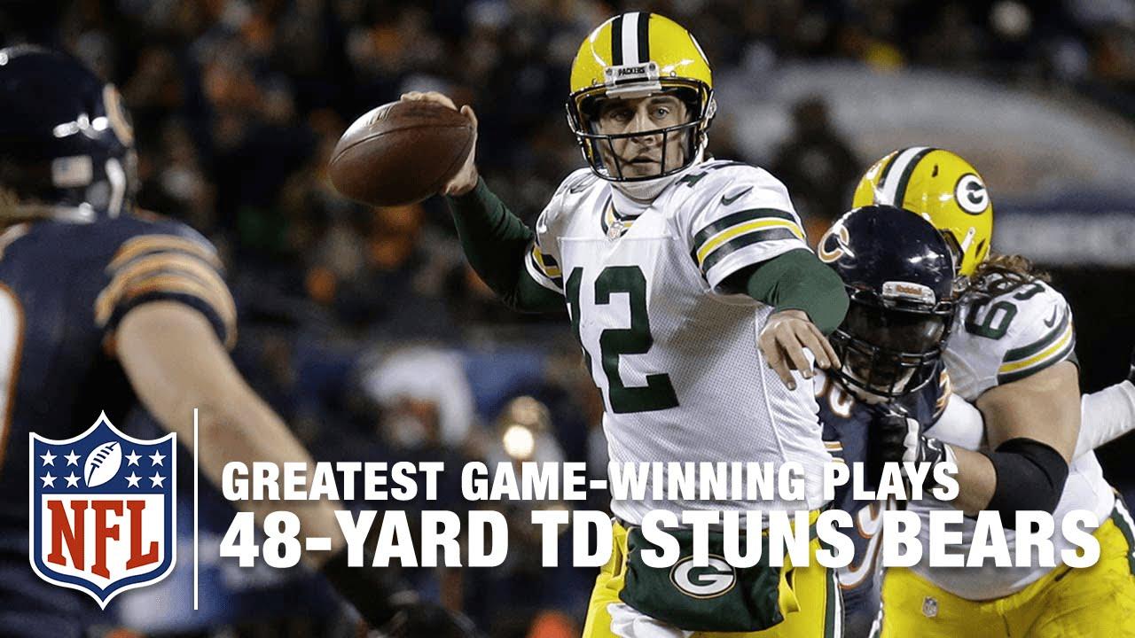 8708b9d6 Aaron Rodgers to Randall Cobb, 48-Yard TD Stuns the Bears (Week 17, 2013) |  Packers vs. Bears | NFL