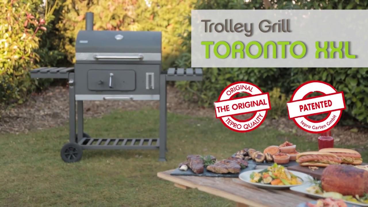 tepro trolley grill toronto xxl youtube. Black Bedroom Furniture Sets. Home Design Ideas
