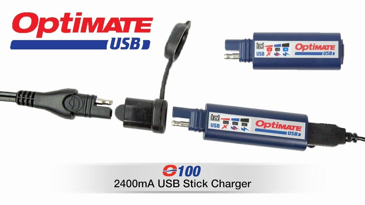 CHARGEUR USB UNNIVERSEL OPTIMATE TECMATE O100