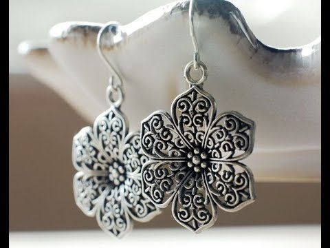 Modern German Silver Earrings Designs || trendy lightweight earrings models