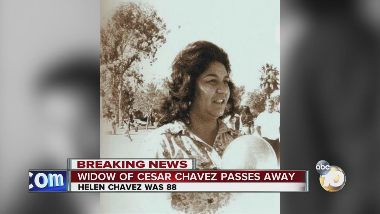 Helen Chavez, wife of Cesar Chavez, dead at 88