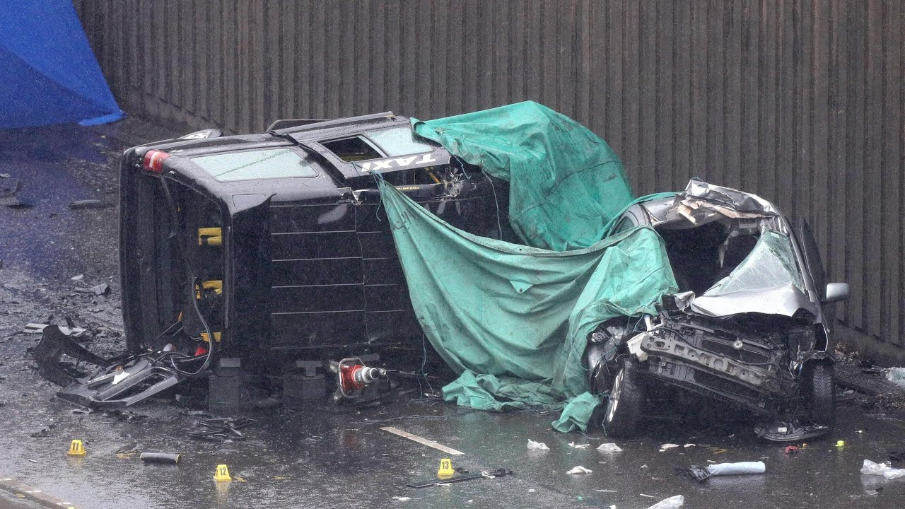 Aftermath of deadly multi-car collision in Birmingham