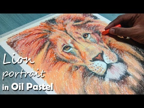 how-to-draw-a-lion-portrait-in-oil-pastel