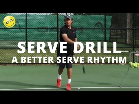 Serve Drill For A Better Rhythm On Your Serve