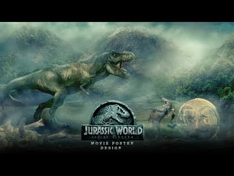 Photoshop Tutorial  | Jurassic World Movie Poster Design Photo manipulation In Photoshop cs6- Part 1