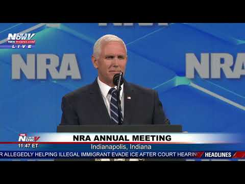 HOMECOMING: V.P. Mike Pence Speaks At NRA Annual Meeting - Indianapolis