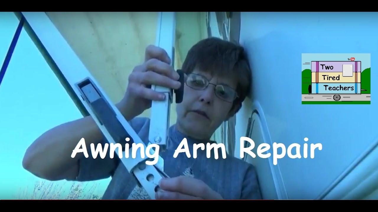 RV Awning Arm Repair - YouTube