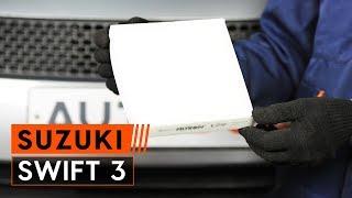 Как се сменят Филтър въздух за вътрешно пространство на SUZUKI SWIFT III (MZ, EZ) - онлайн безплатно видео