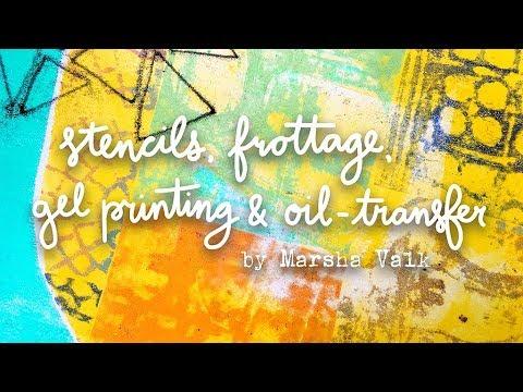 Stencils, Frottage, Gel Printing & Oil Transfer   StencilGirl® Products