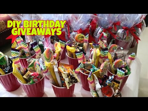 DIY BIRTHDAY GIVEAWAYS/ PARTY BAGS IDEAS