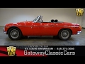 1971 MG B Stock #7050 Gateway Classic Cars St. Louis Showroom