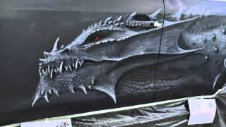 Dragon by CrazyBrush (Airbrushing)