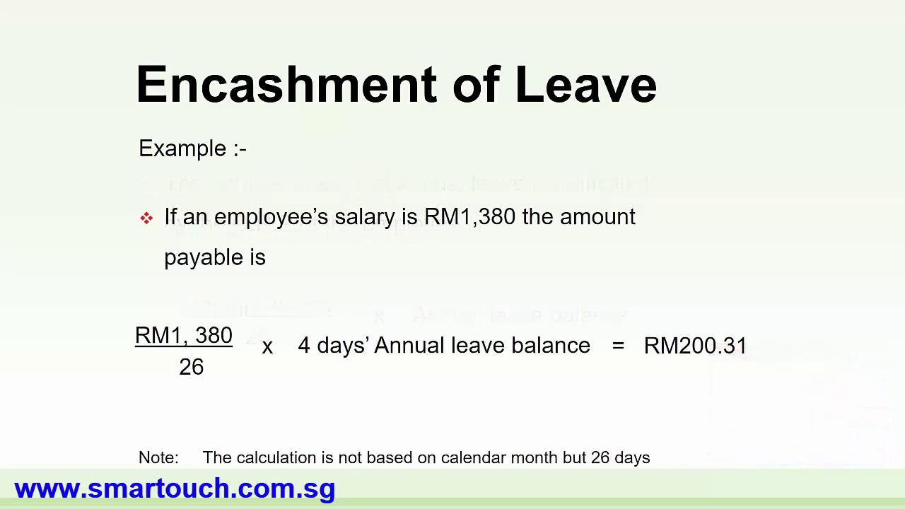 Payroll malaysia formula calculations of encashment for annual payroll malaysia formula calculations of encashment for annual leave spiritdancerdesigns Gallery