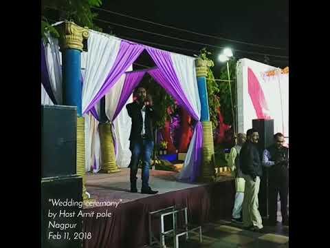 Anchor Amit pole hosting grand wedding in Nagpur