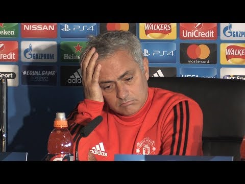 Jose Mourinho Pre-Match Press Conference - Manchester United v Benfica - Champions League