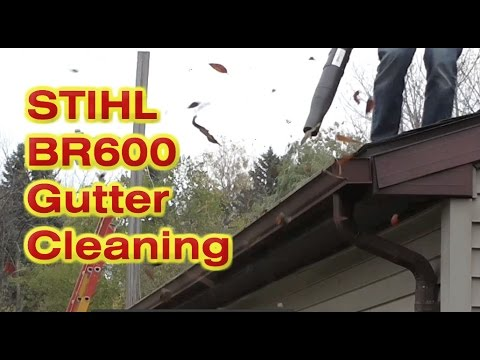 Stihl Br600 Backpack Blower For Gutters And Leaves Youtube