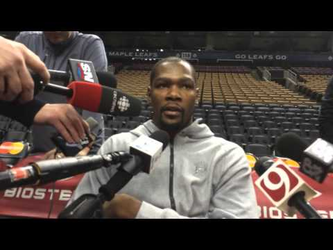 Durant: Shootaround in Toronto - March 28, 2016