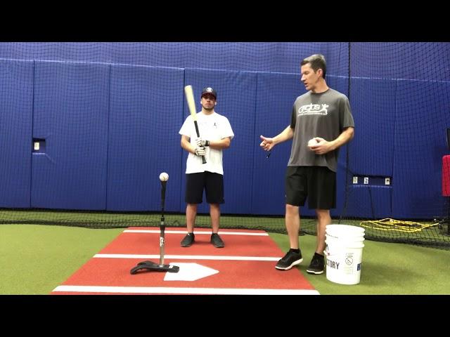 Batting Tee- Step Forward Extension Drill