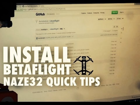 Naze32 Quick Tips - Betaflight install and setup - YouTube