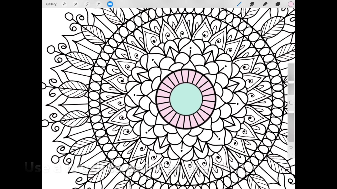 Colouring in on ipad - Ipad Planning Mood Mandala Tracker Colouring In Procreate