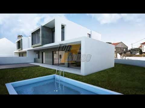 Moradia isolada V4, nova, arquitectura contemporânea Charneca Caparica