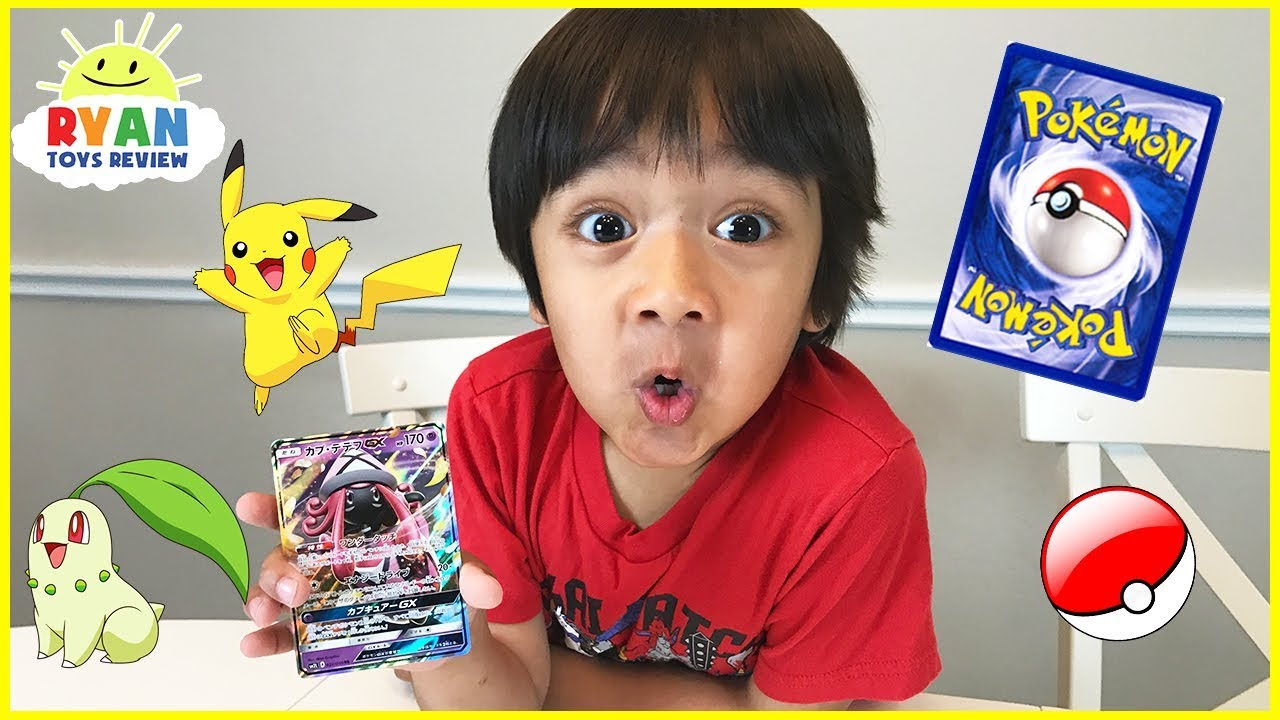 POKEMON CARDS OPENING Booster Box Moonlight Rare cards with Ryan ToysReview - YouTube