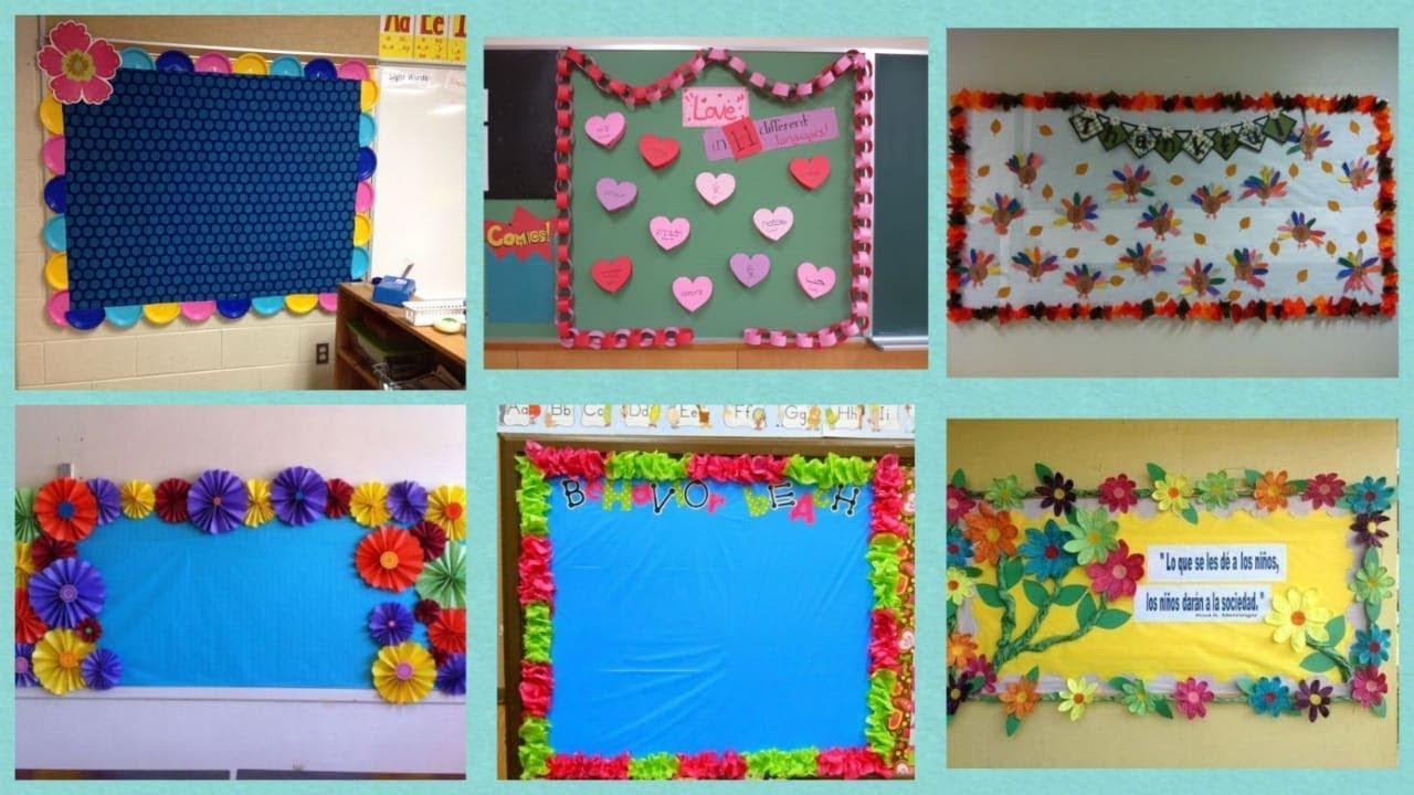 Display board designer border decoration ideas for school ...