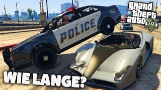 WIE LANGE KÖNNEN WIR VOR DER POLIZEI FLÜCHTEN? - Deutsch - Grand Theft Auto - GTA 5 Online Challenge
