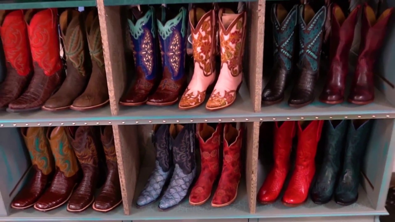 COWBOY BOOT CABINET by Designer Jerry Whittington ASFD! - YouTube