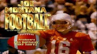 Joe Montana gameplay (PC Game, 1990)