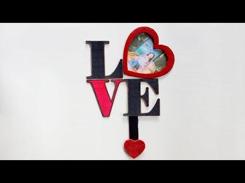 Love Photo Frame/ Cardboard Photo Frame/ DIY Photo Frame