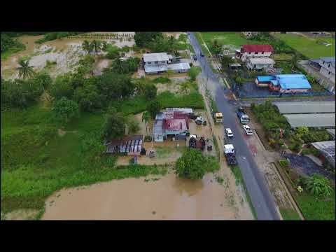 Drone Video of Flooding in Penal/Debe, Trinidad - 2017-10-19