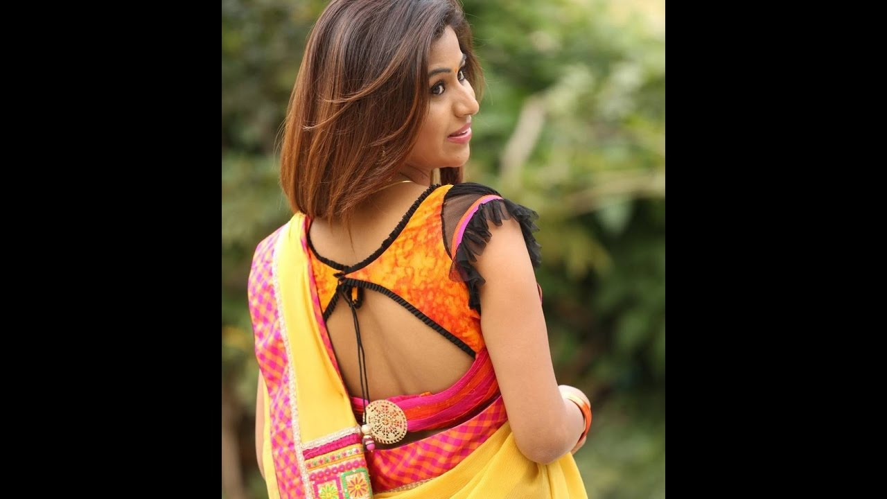 3d8afb76b020b0 south Indian actress back neck blouse - YouTube