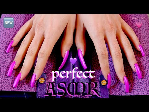 💜 Perfect sound 😴 SCRATCHING + soft tapping 💜 everything Violet-PURPLE! 💜 🎧 intense ASMR ★