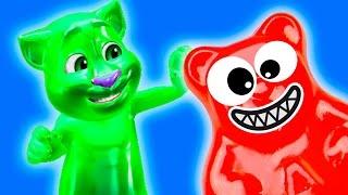 МОЙ ГОВОРЯЩИЙ кот ТОМ Готовка ЧЕЛЛЕНДЖ Мультик как игра Веселое видео для детей