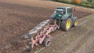 plowing with john deere 6820