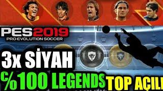 Ohaa ℅100 Legends Top AÇilimi - 3 Tane Efsane ! Pes 19 Mobİle