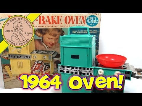 1964 Betty Crocker Easy Bake Oven, Kenner Toys - Snow Mounds and Chocolate Chip Cookies!