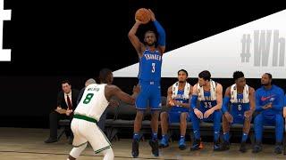 NBA Today 7/24 - Boston Celtics vs OKC Thunder Full Game Scrimmage Highlights (NBA 2K)